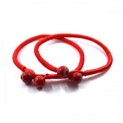 The Lucky Ceramic Red String Bracelets [Set of 2]