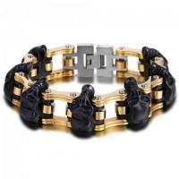 Color: Multiple Skull Gold Chain