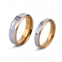 For Ever Love Engraved Killer Ring [Set of 2]