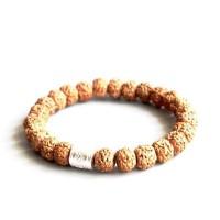 Natural Rudraksha Beads Lucky Fish Charm Bracelet