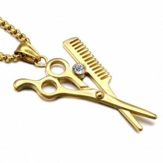 Unique Scissors Comb Pendant Necklace [2 Variants]