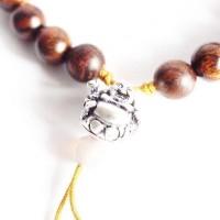 Laughing Buddha Charm Natural Wood Beads Tibetan Bracelet