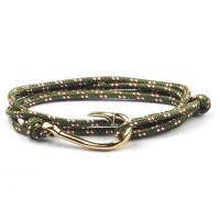 Sharp Silver Anchor Survival Para-cord 550 Bracelets [10 Variants]
