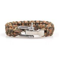 Out Door Retro Metal Survival Paracord Bracelets [5 Variants]