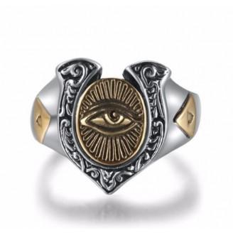 Shiva's Regal Spiritual Silver Ring