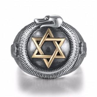 David's Star Unity Silver Ring