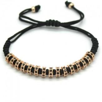18K Gold Plated Diamond Stopper Macrame Bracelet [4 Variants]