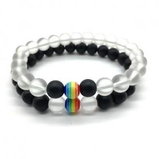 Rainbow and Matte Beaded Couple Bracelets [3 Variants]