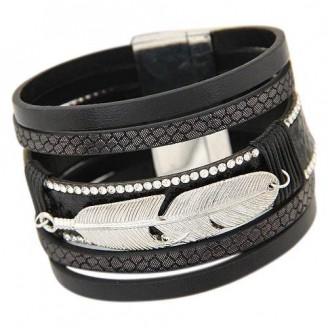 Trendy Magnetic Lock Leather Bracelet [6 Variants]