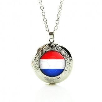 Netherlands Flag Locket Necklace [2 Variants]