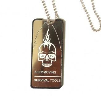 Outdoor Multifunction Survival Tag Necklace