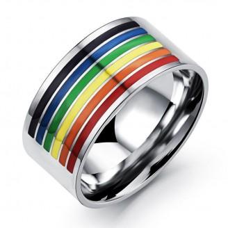 Rainbow Stainless Thumb-ring