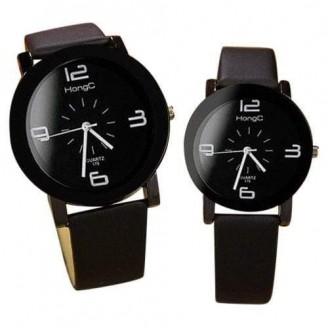 Black Waterproof Couple Watches [Set of 2]