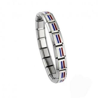 Russia Stainless Steel Flag Bracelet