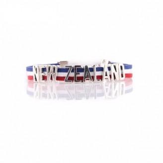 New Zealand National Flag Layered Leather Bracelet [2 Variants]