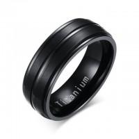 Embossed Black Titanium Ring [5 Variants]
