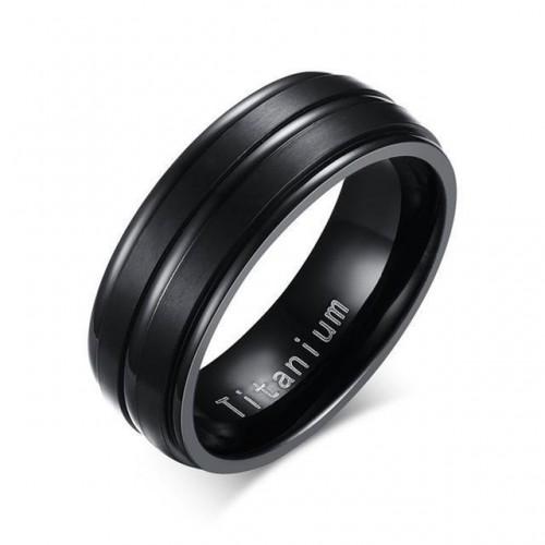 Double Embossed Black Titanium Ring [5 Variants]