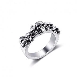 Silver Skull Pinky Ring