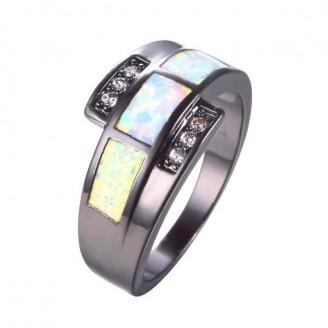 Black Jeweled Opal Ring