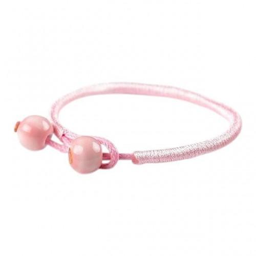 Breast Cancer Awareness Ceramic String Bracelets [Set of 2]
