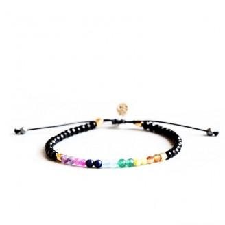 Seven Chakras Healing Prayer Tibetan Bracelet