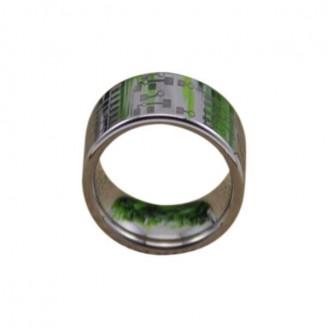 Silver Circuit Board Design Tungsten Carbide Ring