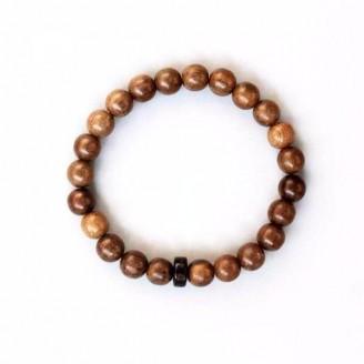 Handcarved Six True Words Natural Wood Beads Bracelet [5 Variants]