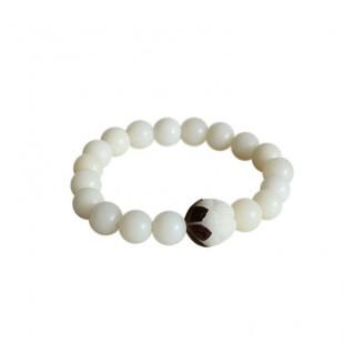 White Bodhi Seed Beads Tibetan Bracelet