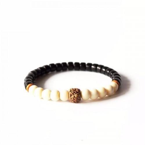 Natural Tagua Nut Coconut Shell Rudraksha Beads Bracelet