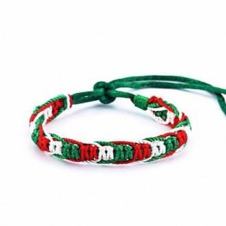 Mexico National Flag Macrame Bracelet [Set of 10]