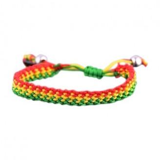 Gradient Style Ghana National Flag Hand Woven Bracelet
