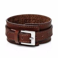 Punk Buckle Leather Cuff Bracelet [2 Variants]