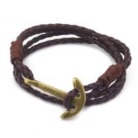 Hope Anchor Leather Wraparound Bracelet [12 Variants]
