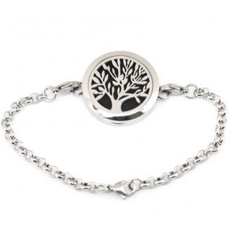 Stainless Steel Tree Design Essential Oil Bracelet