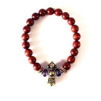 Handcarved Vajra Bell Charm Tibetan Bracelet