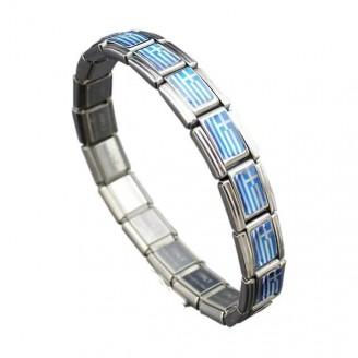 Support Greece Stainless Steel Bracelet