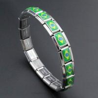 Support Brazil Stainless Steel Bracelet
