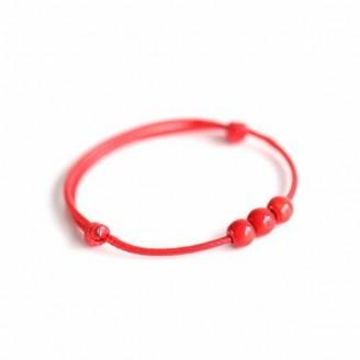Protection Ceramic Red String Bracelets [Set of 3]