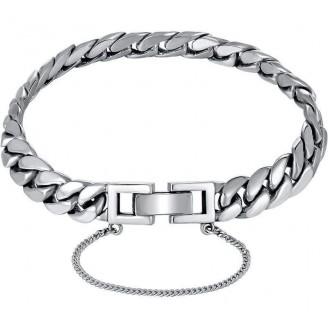 Flair Flat Solid Silver Cuban Bracelet