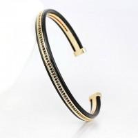 Micro Pave Cubic Zirconia Stylish Cuff Bangle Bracelets [4 Variants]