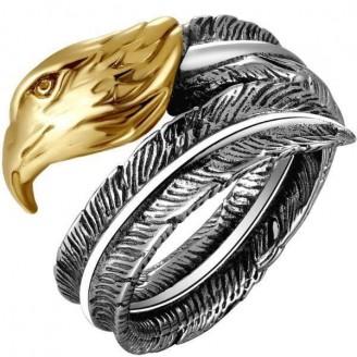 Peregrine Condor Golden Silver Ring