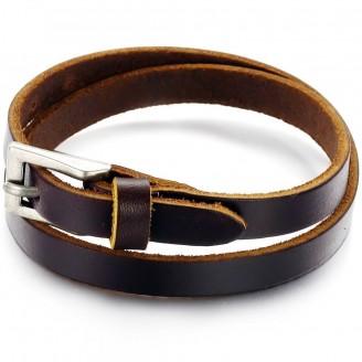 Stainless Steel Belt Leather Men's Bracelet