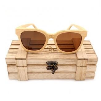 Hazel Sepia Wayfarer Bamboo Wood Sunglasses [2 Variants]