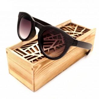 Gradient Ebony Cat Eye Bamboo Wood Sunglasses
