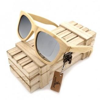 Cream Wayfarer Bamboo Wood Sunglasses [2 Variants]