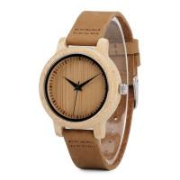 Cinnamon Ebony Adjustable Bamboo Wristwatch
