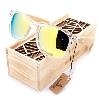 Vogue Translucent Wayfarer Bamboo Wood Sunglasses [2 Variants]