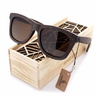 Natural Luscious Ebony Bamboo Wood Sunglasses [3 Variants]
