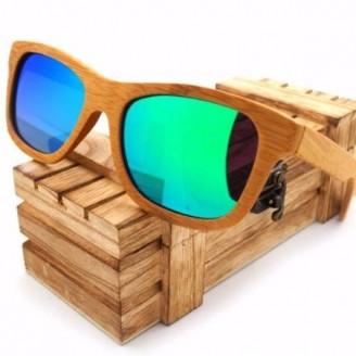 Sand Brown Wayfarer Bamboo Wood Sunglasses [6 Variants]