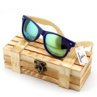 Natural Bambusa Polymorpha Bamboo Wood Sunglasses [4 Variants]